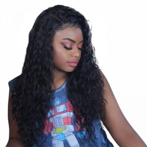 13X6 Lace Front Wigs With Baby Hair Deep Part Pre Plucked Brazilian Human Hair Wigs For Women Loose Wave Hair Wigs Bleached Knots