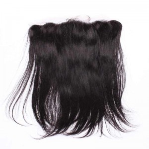 Natural Color Silky Straight Indian Remy Hair Lace Frontal Closure 13x4inches