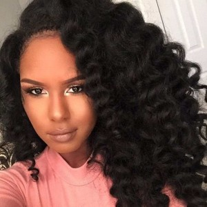 250% Density Full Lace Human Hair Wigs For Black Women 7A Brazilian Wig Deep Curly Lace Front Human Hair Wigs