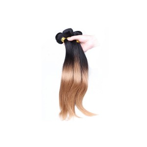 Ombre Hair Weave Color 1b/#27 Straight Virgin Human Hair 3 Bundles