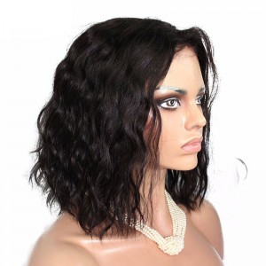 180% Density 360 Lace Wigs Loose Wave Bob Style Brazilian Virgin Hair Full Lace Wigs