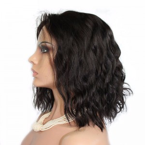 Brazilian Loose Wave BOB Style Lace Front Ponytail Wigs 150% Density wigs No Shedding No Tangle