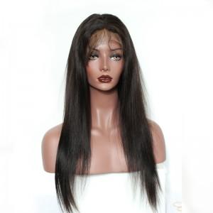 360 Lace Wigs 180% Density Brazilian Virgin Hair Straight Circular Full Lace Wigs 100% Human Hair Wigs Natural Hair Line Wigs