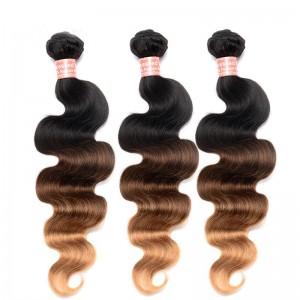 Body Wave 1B/4/27 Ombre Color Brazilian Virgin Human Hair Weave 4 Bundles