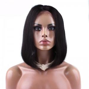 Human Hair Straight Bob Wigs 150% Brazilian Remy Hair Lace Front Human Hair Wigs
