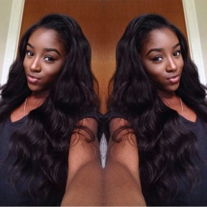 250% Density Full Lace human Hair Wigs Body Wave Glueless Lace Front  Wigs with Baby Hair Natural Hair Line