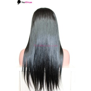Natural Color Silky Straight Unprocessed Brazilian Virgin Human Hair U Part Wigs