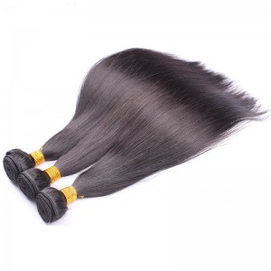 Brazilian Virgin Hair Weft Silky Straight 3 Bundles In Favourable Price