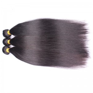 High Quality Silk Straight Brazilian Virgin Human Hair Extensions Weave 3 Bundles