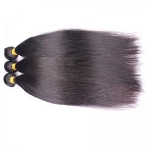 High Quality Silk Straight Brazilian Virgin Human Hair Extensions Weave 3 Bundles