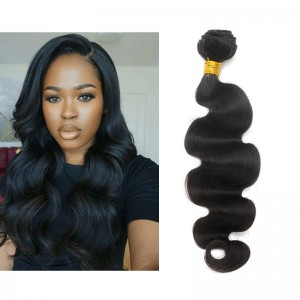 Natural Color Brazilian Virgin Human Hair Weave Body Wave 1pc Bundle
