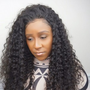 250% Density Wig Pre-Plucked Deep Wave Brazilian Lace Wigs with Baby Hair for Black Women Natural Hair Line