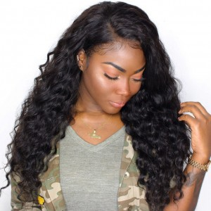 Loose Wave 360 Lace Wigs Brazilian Virgin Hair Full Lace Wigs 150% Density Human Hair Wigs