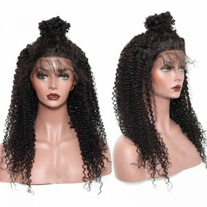 Kinky Curly 360 Lace Frontal Wigs Brazilian Virgin Hair Full Lace Wigs 180% Density