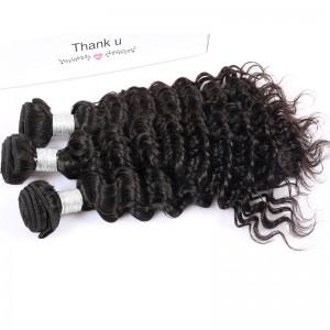 Best Brazilian Virgin Hair Deep Wave Hair Extensions 3 Bundles 100% Human Hair
