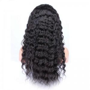 Deep Wave Full Lace Wigs 180% Density 360 Circular Lace Wigs Brazilian Virgin Hair 100% Human Hair Wigs Natural Hair Line Wigs