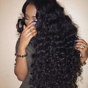 Deep Wave Full Lace Front Wigs with Baby Hair Pre-Plucked Natural Hair Line 150% Density wigs