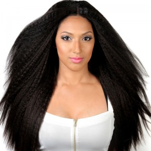 Lace Front Wig 250 Density Kinky Straight Wig 7A Brazilian Full Lace Human Hair Wigs For Black Women