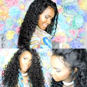 Pre-Plucked Natural Hair Line Deep Wave Human Hair Wigs 150% Density Wigs No Tangle