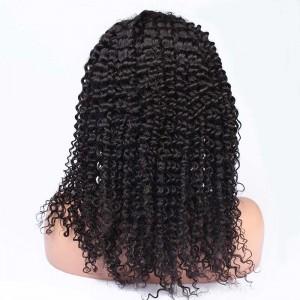 250% Density Brazilian Virgin Hair Kinky Curly Lace Front Human Hair Wigs