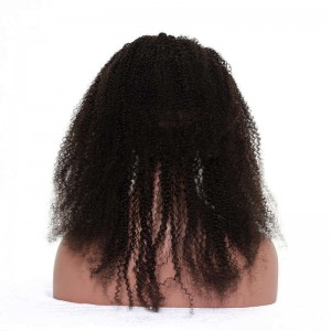 360 Frontal Closure Afro Kinky Curly Natural Hairline Lace Band Frontal 360 Closure Malaysian Hair