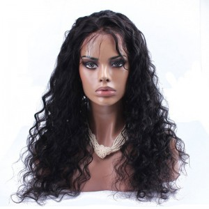 100% Human Hair Unprocessed Brazilian Virgin Hair Loose Wave Full Lace Wigs