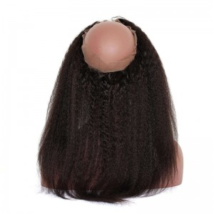 360 Frontal Closure with Cap Kinky Straight Natural Hairline Lace Frontal 360 Closure Malaysian Hair