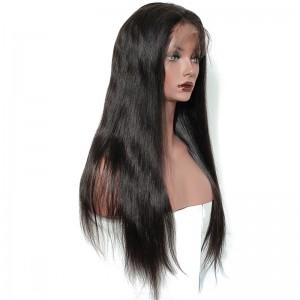 Natural Color Silky Straight Unprocessed Brazilian Virgin Human Hair U Part Wigs