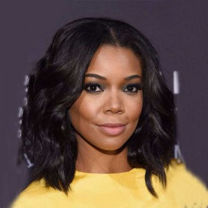12 inch Natural Color Natural Wave Middle Part Bob Human Hair Lace Front Wig