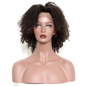 Kinky Curly Lace Front Wigs Natural Curl For Black Women High Quality 100% Brazilian Virgin Human Hair Wig