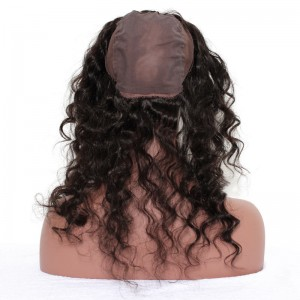 360 Lace Frontal with Cap Deep Wave Brazilian Virgin Hair Lace Frontal Natural Hairline