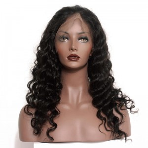 100% Human Hair Wigs Loose Wave 360 Circular Lace Wigs Brazilian Virgin Hair Full Lace Wigs