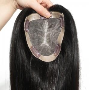 Hair Closure Brazilian Virgin Hair Topee Natural Black Color Grade 7A Hair