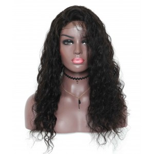 Cheapest Loose Wave 200% Density Lace Closure Wig Pre-Plucked Hairline