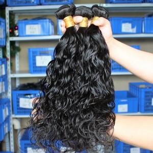 Natural Color Peruvian Virgin Human Hair Water Wet Wave Hair Weave 3 Bundles