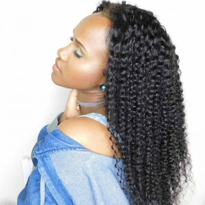 Kinky Curly Lace Front Wigs with Baby Hair Pre-Plucked Natural Hair Line 150% Density wigs
