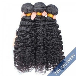 Brazilian Virgin Human Hair 3B 3C Kinky Curly Hair Weave 3 Bundles
