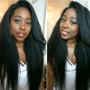 250% High Density Kinky Straight Wig Full Lace Human Hair Wigs For Black Women Comingbuy Lace Wig