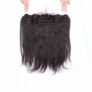 13*4 Lace Frontal With Natural Hairline Kinky Straight Brazilian Virgin Hair Lace Frontal