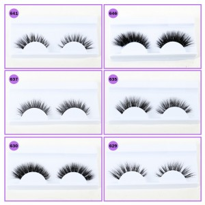 3D Mink Lashes 6 Paris Mixed Style Supernatural Eyelashes Handmade Thick False Eyelash Makeup Beauty