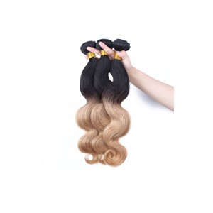 Color 1b/#27 Ombre Human Hair Body Wave Hair Extensions 3 Bundles