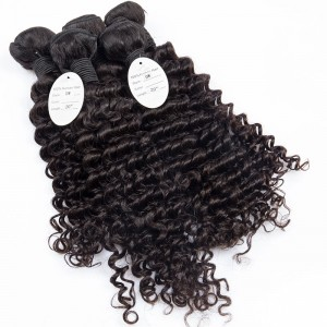 8A Brazilian Virgin Hair Deep Wave 100% Human Hair Extensions Brazilian Deep Wave Hair Bundles