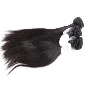 100% Human Hair Brazilian Virgin Hair Straight Hair Extensions Weave Bundles