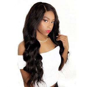 Lace FrontHuman Hair Wigs Body Wave with Baby Hair Pre-Plucked Natural Hair Line 150% Density wigs