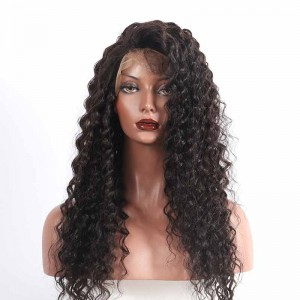 Detangle Pre-Plucked 150% Density Wigs Natural Hair Line Deep Wave Human Hair Wigs