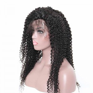 360 Frontal Wig 150% Density Kinky Curly Brazilian Virgin Hair 360 lace Wig With Baby Hair For Black Women Pre-plucked Hairline Comingbuy