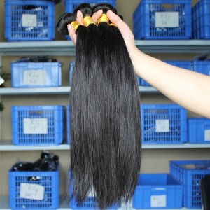 Natural Color Silk Straight Malaysian Virgin Human Hair Weave 3 Bundles
