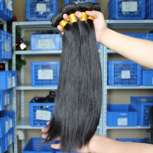Indian Virgin Hair Natural Color Silk Straight Hair Weave 3 Bundles