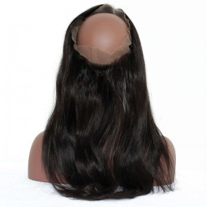360 Lace Frontal Closure Straight Hair Natural Hairline 360 Lace Band Closure