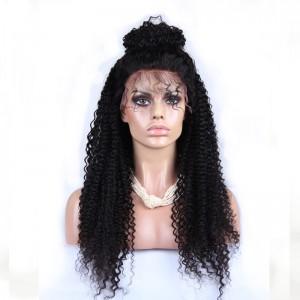 Kinky Curly 360 Lace Frontal Wigs Brazilian Virgin Hair Full Lace Wigs 180% Density